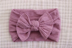 Bow Headband | Lavender - LUXE + RO