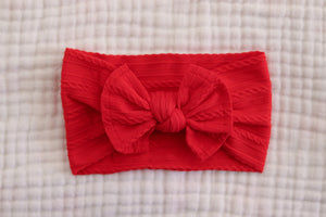 Bow Headband | Red - LUXE + RO