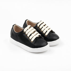 Little Hard Soled Sneakers | Black - LUXE + RO