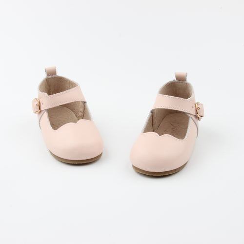 Mary Janes Nude Pink- Hard soles Ready to Ship - LUXE + RO