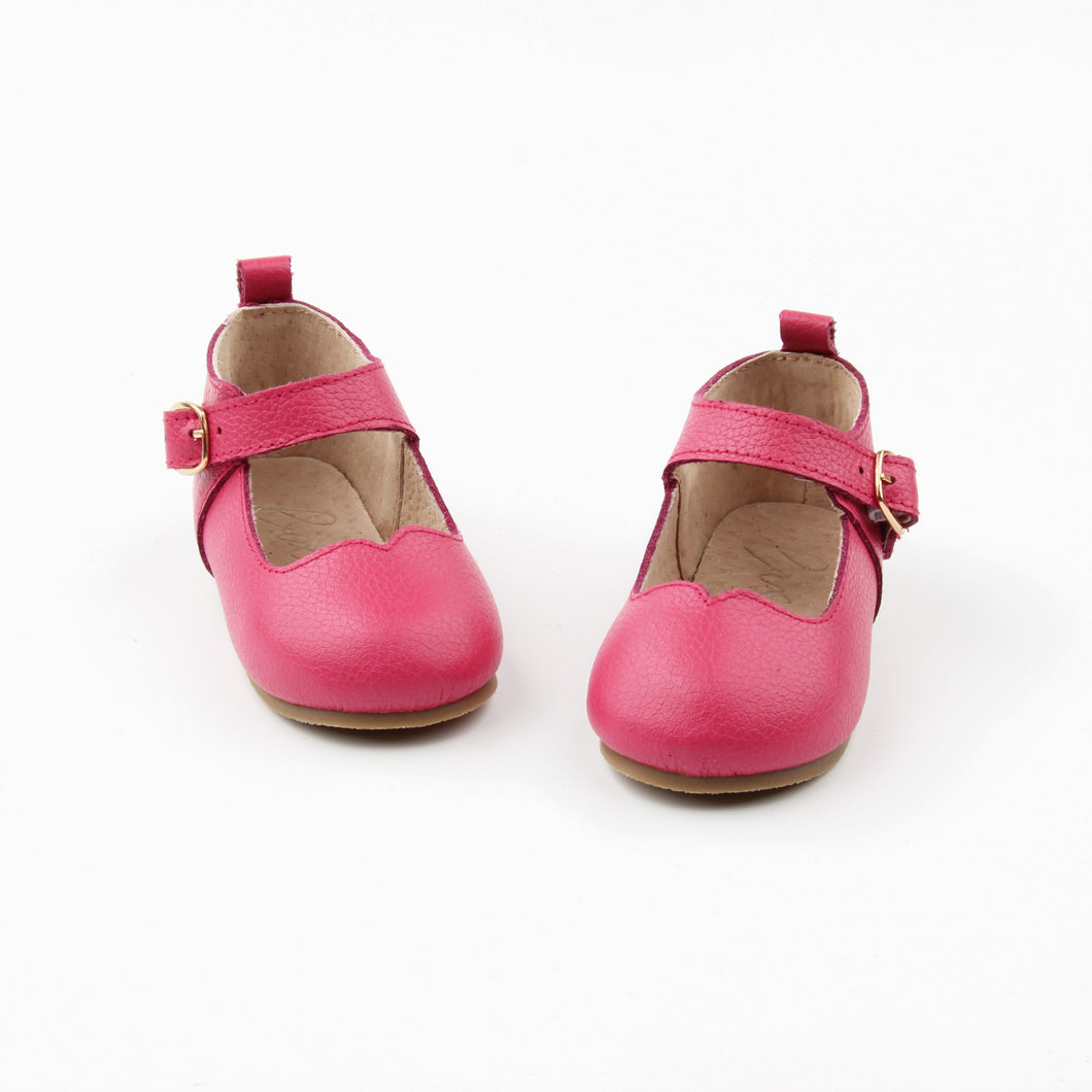 Mary Janes HOT PINK - Hard soles RTS - LUXE + RO