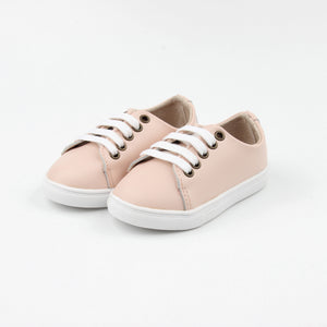 Little Sneakers Hard soled -Soft Pink - LUXE + RO