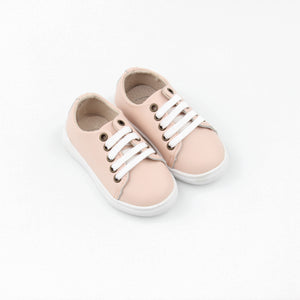Little Sneakers Hard soled -Soft Pink