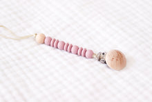 Wooden Pacifier Clip | Light Mauve - LUXE + RO