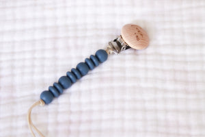Wooden Pacifier Clip | Blue Universe - LUXE + RO