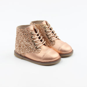 The real Boots  - Metallic Gold Rose - LUXE + RO