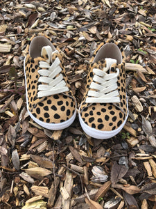 Little Sneakers Hard soled - Leopard - LUXE + RO