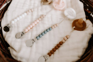 The LUXIE | White Pacifier - LUXE + RO
