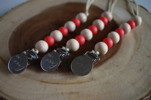 The Luxie Pacifier Clip | Christmas Red - LUXE + RO