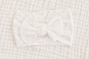 Bow Headband | White - LUXE + RO