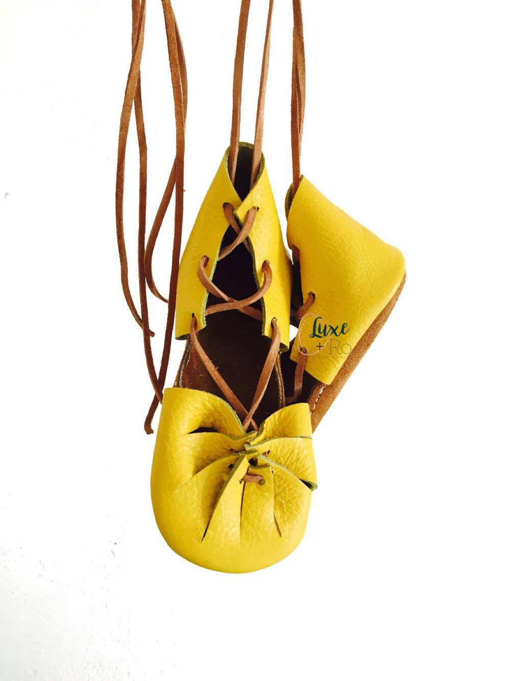 yellow sandals handmade leather goods for kids best baby mocc shop