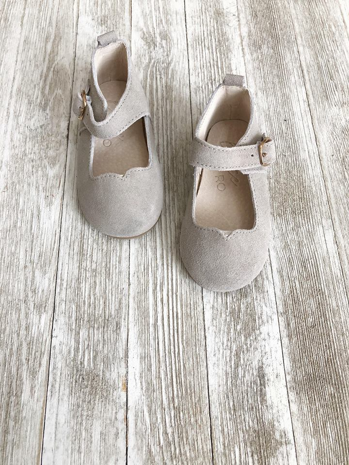 Mary Janes Grey  - Hard soles RTS - LUXE + RO