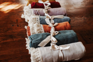 Baby Blanket | 100% Cotton with Tassels - LUXE + RO