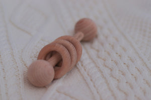 The Classic Wood Baby Rattle | Teether - LUXE + RO