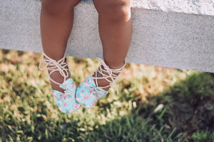 blue pastel flower shoes for kids where to buy best baby moccs handmade shoes for babies