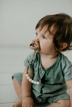 The Luxe Set | Deep Almond & Light Grey Pacifiers - LUXE + RO