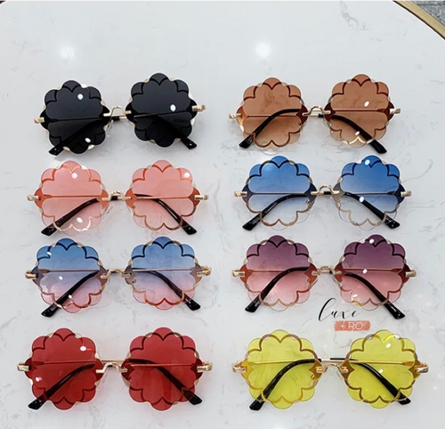 Flower Sunglasses Tan