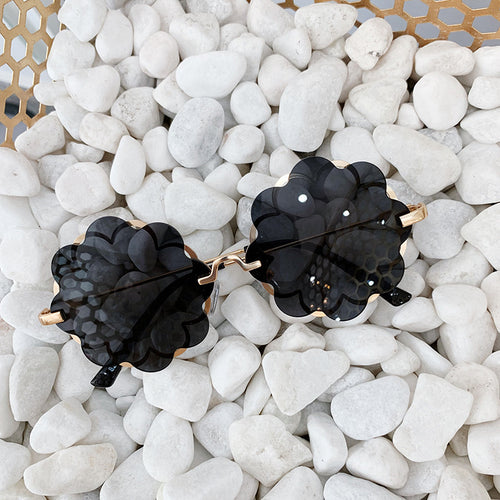 Flower Sunglasses Black