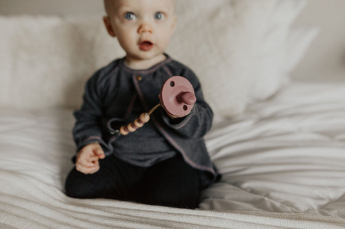 The LUXE - Dark Mauve Pacifier - LUXE + RO
