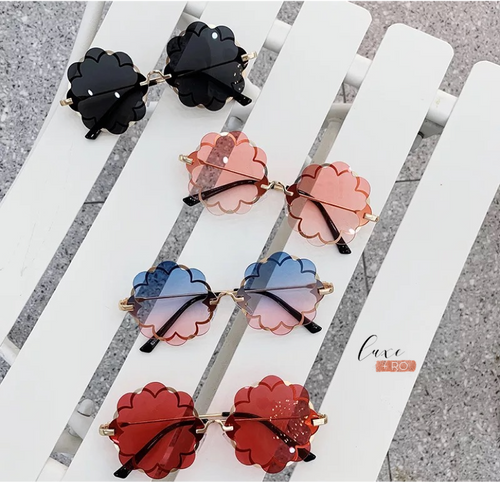 Flower Sunglasses Blue/Pink