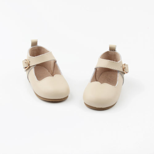 Mary Janes Cream  - Hard soles RTS - LUXE + RO