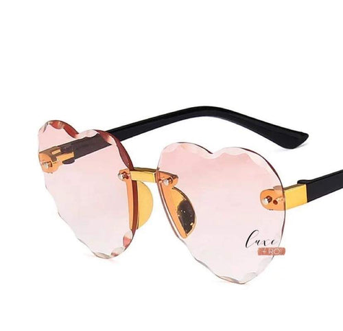 Heart Sunglasses Pink