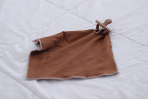 Pacifier Snap Blanket | Rust Lovey - LUXE + RO