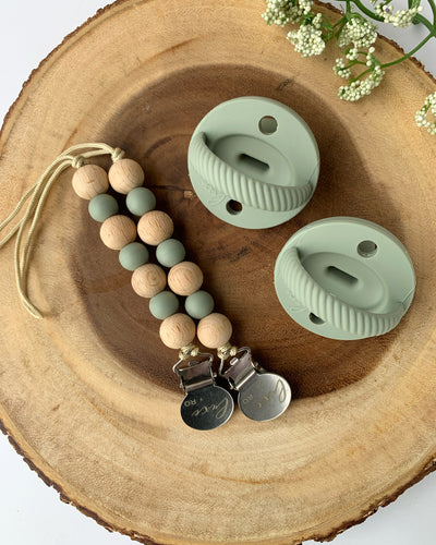 The LUXE - Sage Pacifier - LUXE + RO