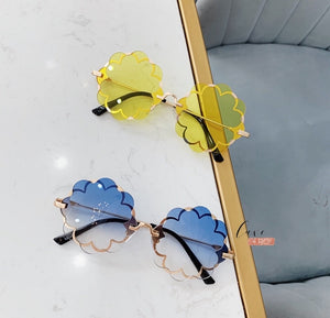 Flower Sunglasses Blue