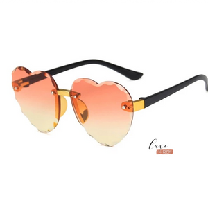 Heart Sunglasses Orange