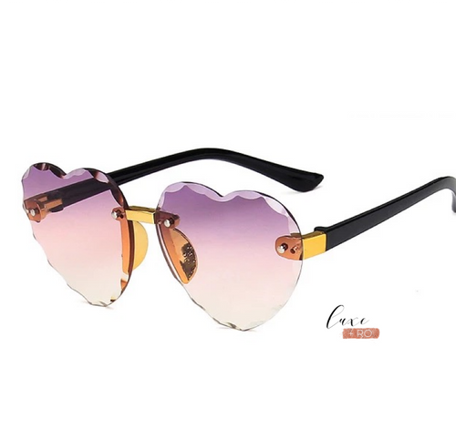 Heart Sunglasses Purple/Pink