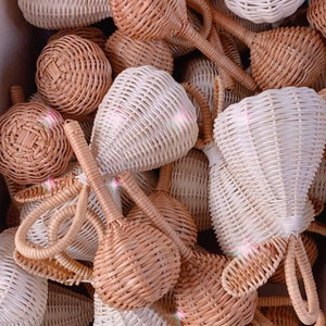 The Rattan Baby Rattle Brown