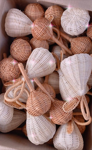 The Rattan Baby Rattle Brown - LUXE + RO