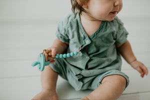 The LUXE - Aqua Blue Pacifier - LUXE + RO