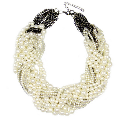 Multi-layered String of Pearls Necklace