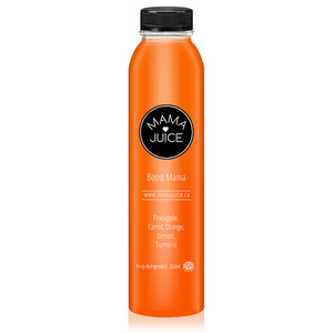 boost mama - mama juice co. - vancouver - wholesale - juice - organic - pineapple - orange - carrot - turmeric