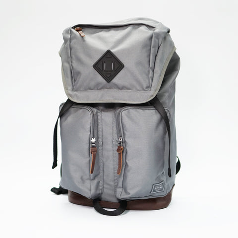 Racoon Backpack LIGHT CELADON with Premium BROWN Leather