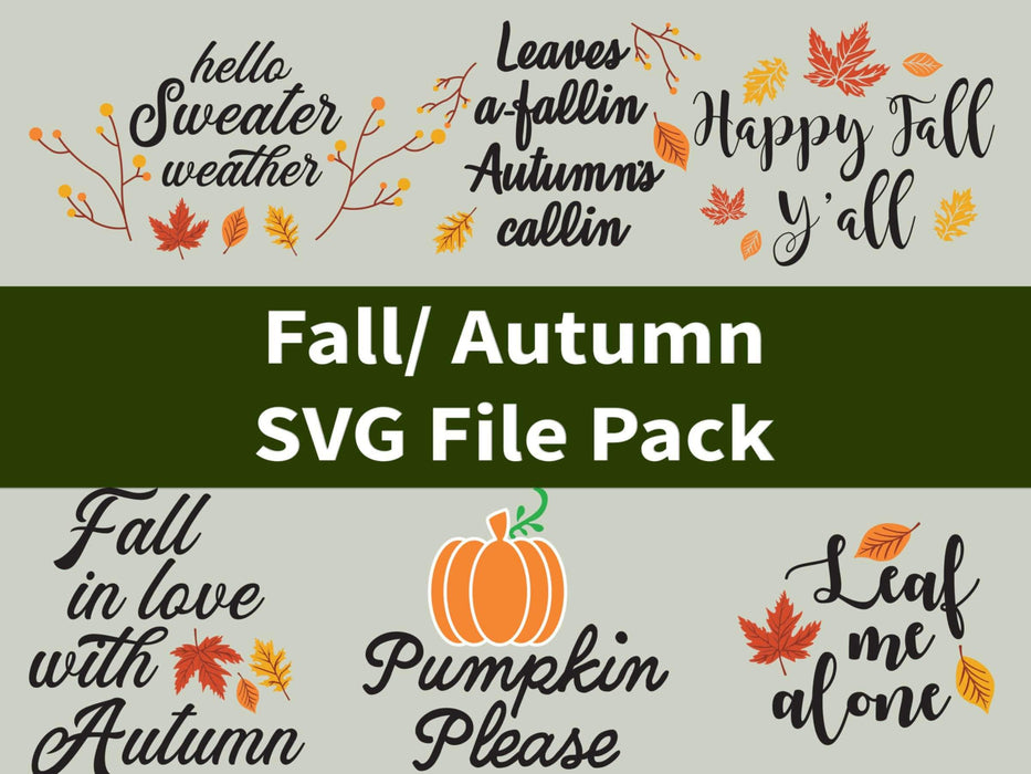 CraftHTV.com SVG File Harvest Fall SVG File Pack