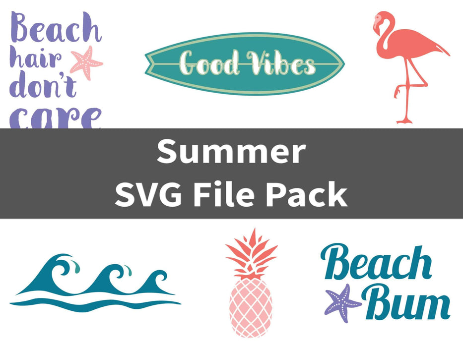 CraftHTV.com SVG File Summer SVG File Pack
