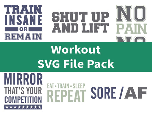 CraftHTV.com Vinyl Workout SVG File Pack