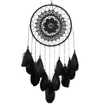 Indian Black Feather Dreamcatcher