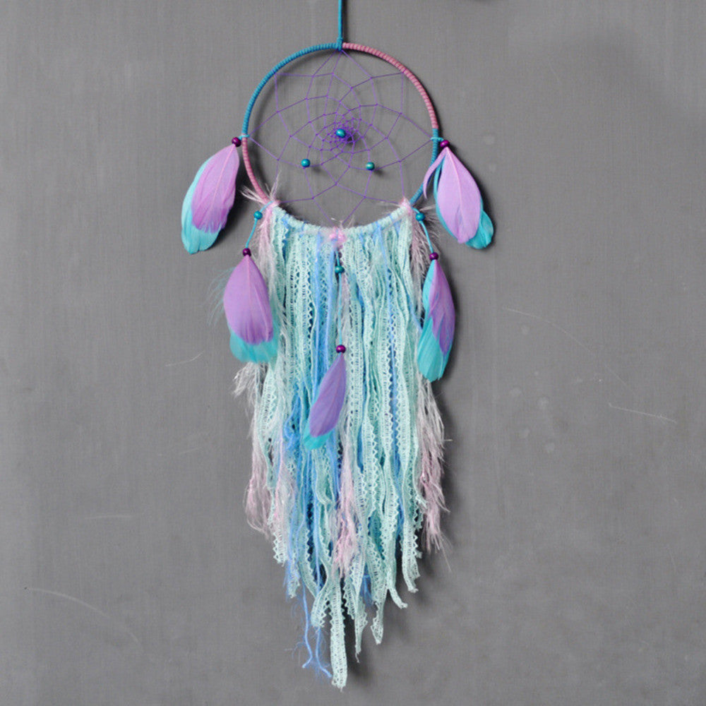 Natural Colorful Feathers Dreamcatcher