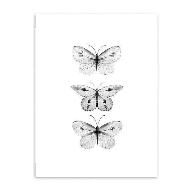 Nordic Black and White Canvas Art Print /Unframed