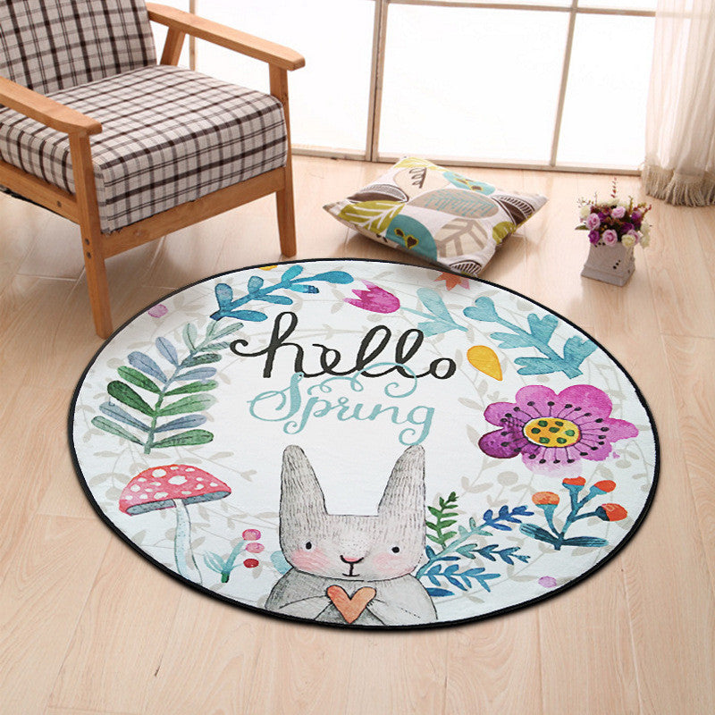 Lovely Rabbit Round Rug