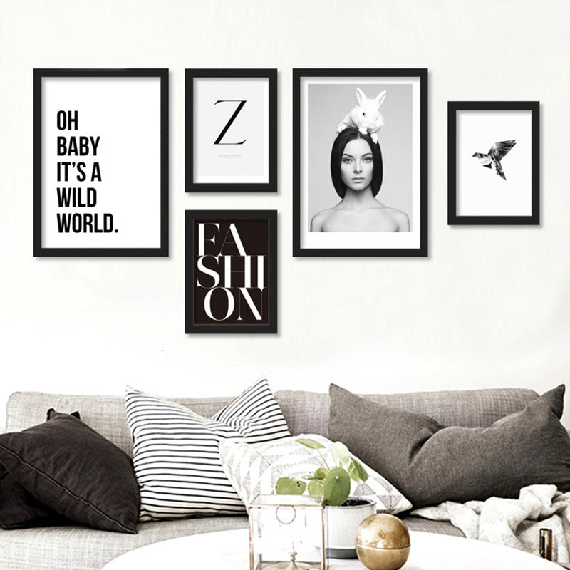 Cuadros Brown Eye Girl Wall Pictures /Unframed