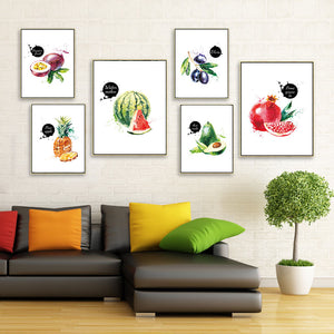 [Unframed] Watermelon Grape Modern Nordic Canvas Painting
