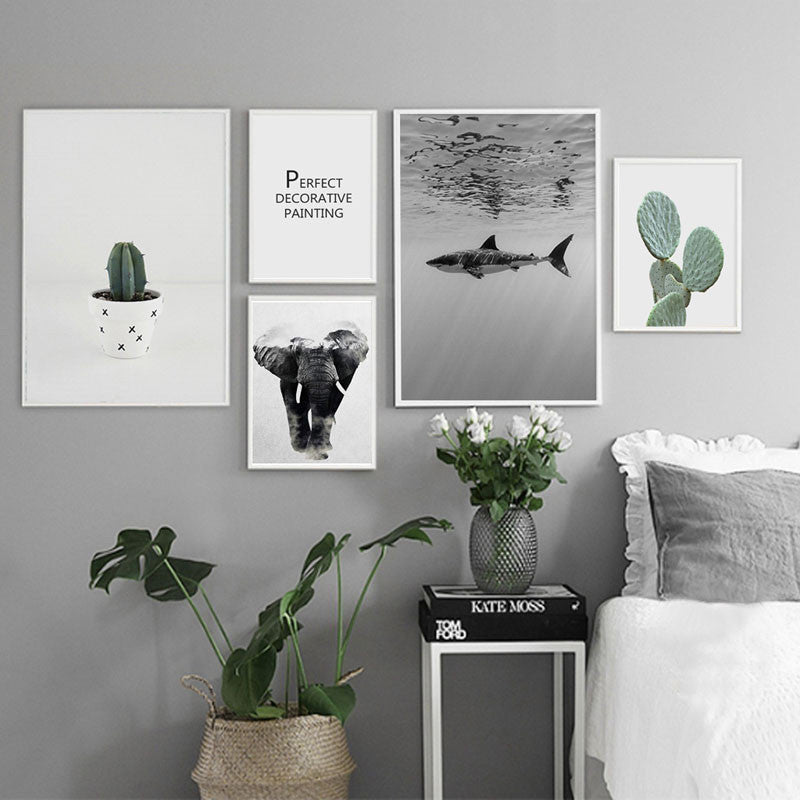 Simple Life Nordic Modern Canvas Poster /Unframed