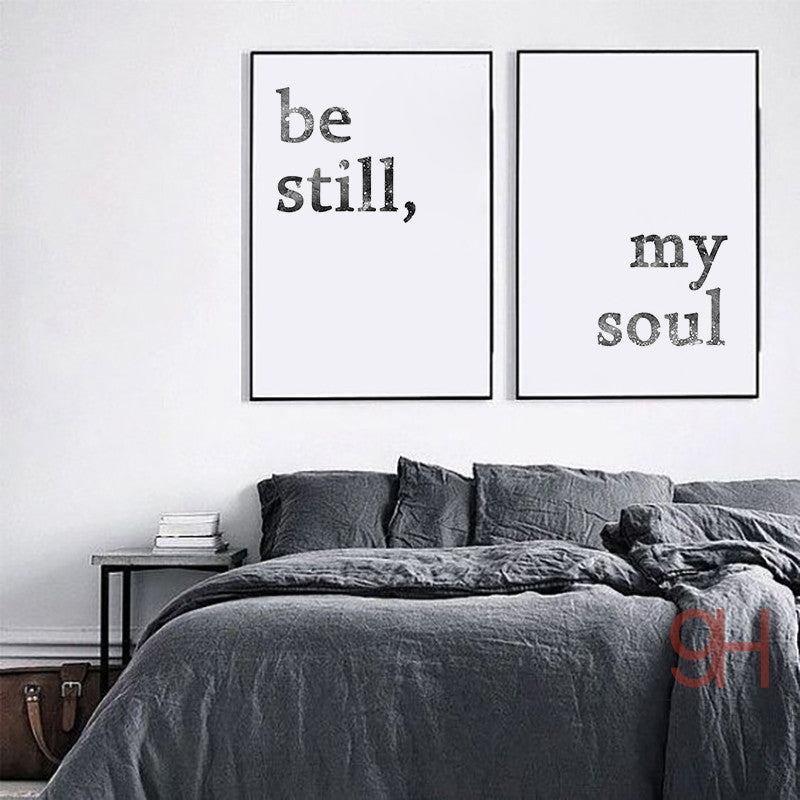 Simplicity Life Quote Wall Art /Unframed