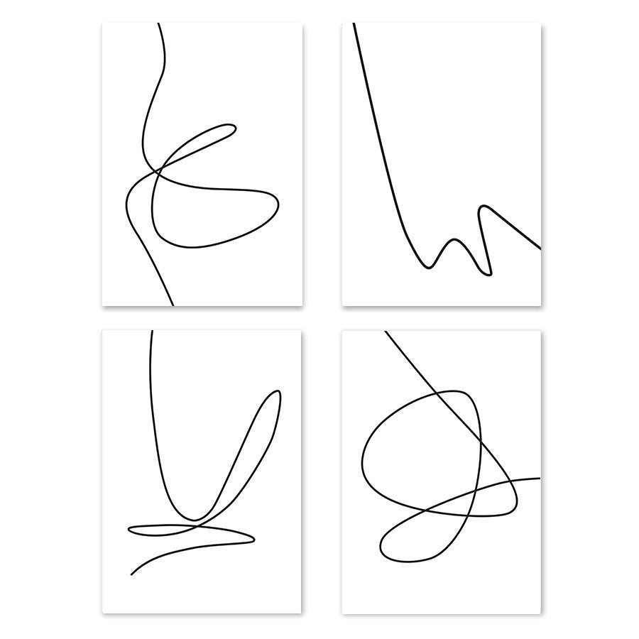 Minimalism Line Drawing Wall Art /Unframed