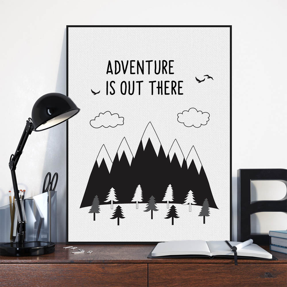 Quotes Wall Art Black Typography Adventure Quotes Wall Art  Emoh